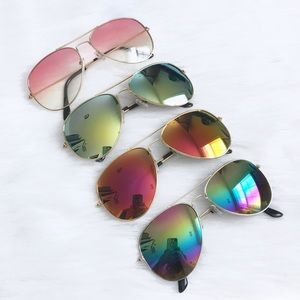 Accessories - Mirror Aviator Sunglasses